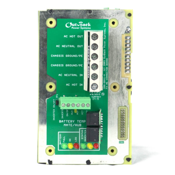 Outback Power SPARE 107 AC Board 220 0001 01 00TEST