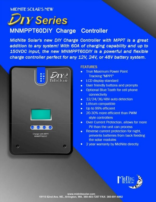midnite solar mnmppt60diy charge controller for sale