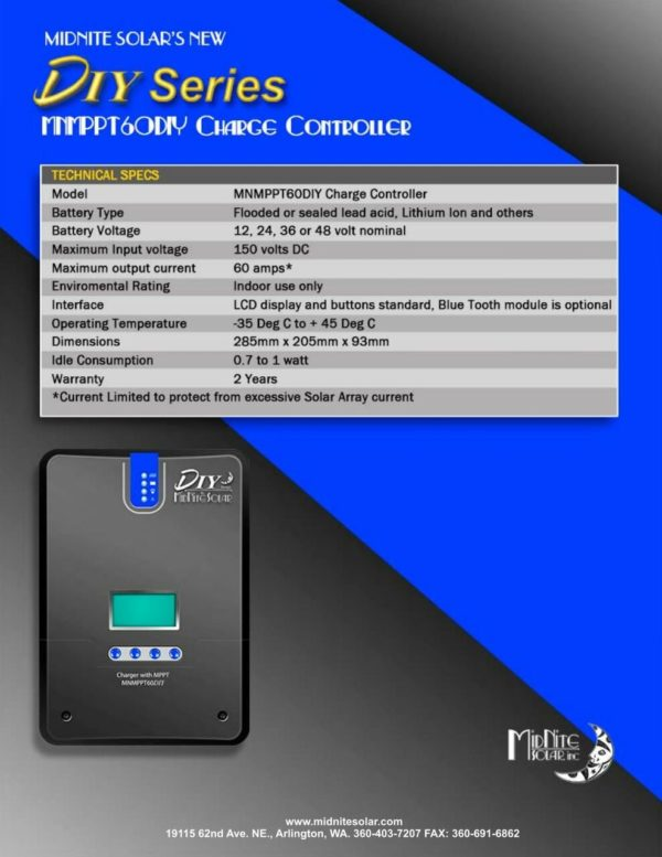 mnmppt60diy charge controllers for sale