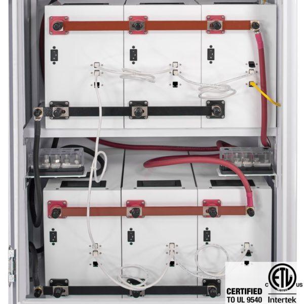 simpliphi power access ampliphi sol ark interior closeup ul 9540 A 4PHI CC SCH PRO