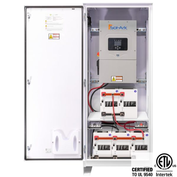 simpliphi power access phi sol ark 19 kwh interior full view ul 9540 a 6amp sa 12 for sale
