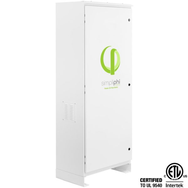 simpliphi power boss 12 battery only storage system main view right facing ul 9540 BOSS 12