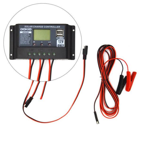 simpliphi power dokio 80 watts 12 volts monocrystalline foldable solar panel controller LG 287 12 EK
