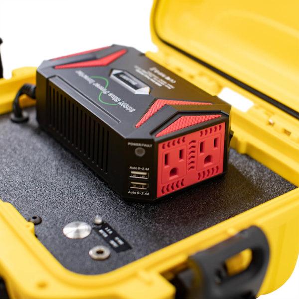 little genny emergency power kit open case closeup view simpliphi power LG 287 12