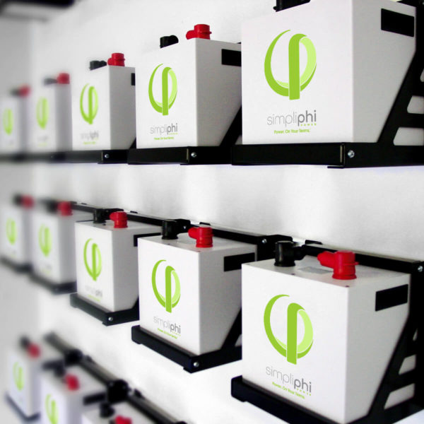 simpliphi power phi 2 4 high output wall of batteries 1080 1080