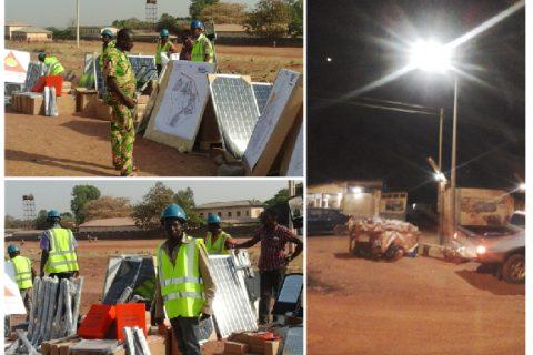 lightening the caring lights in Benin Africe