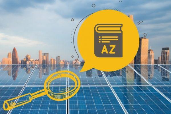 solar energy terms glossary terminology