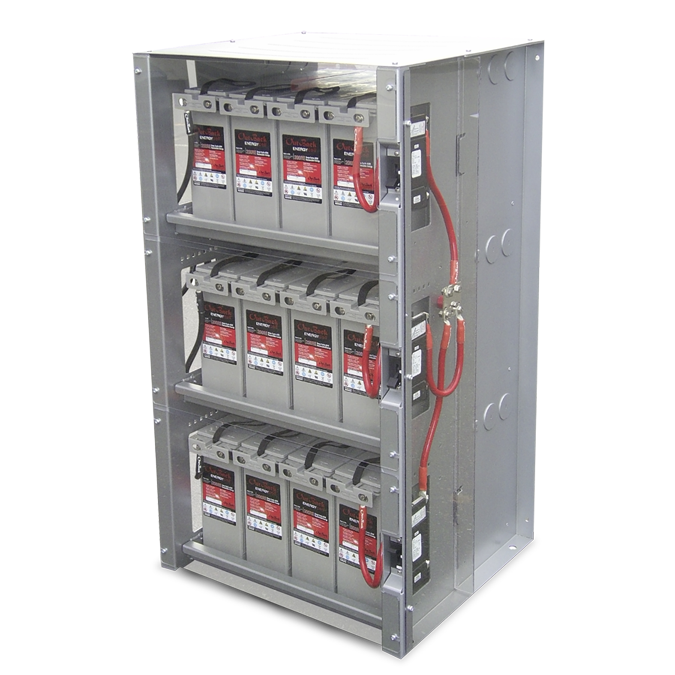 Comprehensive battery enclosure with cabling and series string overcurrent protection and disconnects