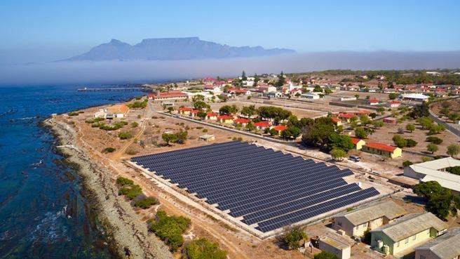 off grid solar robben island project