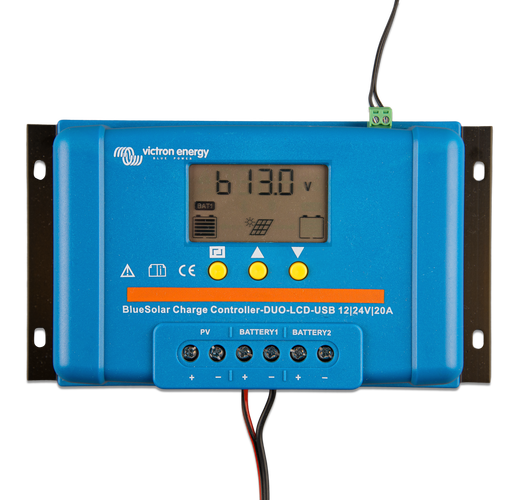1593691194 upload documents 775 500 BlueSolar Charge Controller DUO LCD USB 12 24V 20A top display